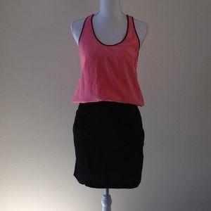 Diane vonFurstenberg pink and black dress